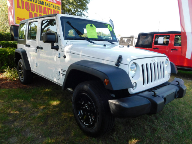 2016 Jeep Truck >> Pre Owned 2016 Jeep Wrangler Unlimited Sport 4wd